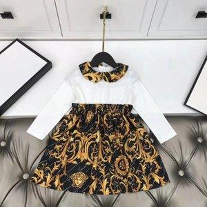2020 meninas novas Vestidos crianças Crianças Vestuário de primavera e outono menina Vestido de renda Princess Party vestido crianças vestir roupas infantis