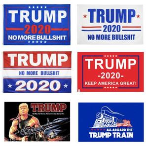 Trump Flags Trump Flag 3x5 ft Günstige Polyesterdruck 2020 amerikanische Wahlunterstützungs Flag Banner Zug-Behälter Rambo Frauen DHL-Schiff