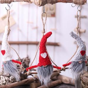 Плюшевые Gnome кукла Рождество Swedish Gnome Санта плюшевые куклы Xmas Tree Главная Украшение плюшевые куклы KKA8034