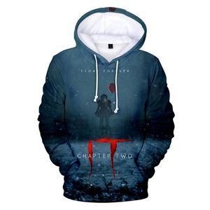 Hot Movie it-chapter 2 Hoodies Sweatshirts Men Women Long Sleeve Autumn Winter pullover High Quality Hip hop Creative 3D Hoodie