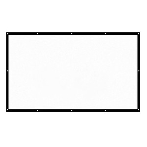 60-150 pulgadas portátil proyector de pantalla HD 16: 9 diagonal blanca de vídeo Pantalla de proyección plegable montado en la pared Inicio