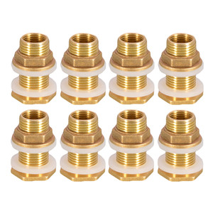 8pcs Solid Brass Water Tank Connector Garden Fittings M1 2\'\' DN15