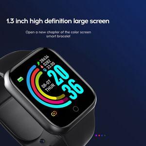 Женский мужской спортивный водонепроницаемый USB IOS монитор сердечных сокращений Apple Cab Watch Smart Bracte Bracelet Часы прямой платы без и Smar IHQN