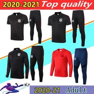 20 21 Bayern tuta da calcio set 2020 2021 LEWANDOWSKI SANE ROBBEN ROBBEN maniche corte POLO tuta da jogging insieme Survêtement