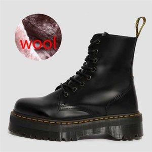 1460 Mode Femmes Martin Bottes Printemps Automne Haute S Chaussures chaud boucle en métal Chunky S Boot Bottes Retro Martin Roman Taille 34- # 229