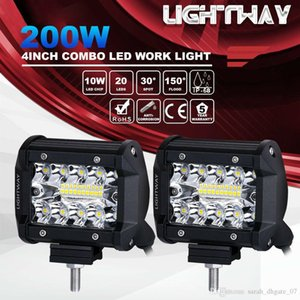 2adet 4inch 200W CREE LED İş Işık Bar Gömme Montaj Combo Sürücü Lambası 12V 6000K 20000LM İçin Sürüş Offroad Tekne Araba Pod'umuz