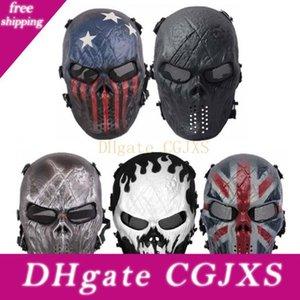 Máscara de Halloween nuevo partido Protección cráneo de la máscara de Navidad Riding Ejército de la cara llena al aire en vivo -Action campo Equipo Cs