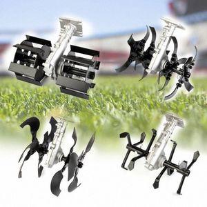 Universal Fit Farmer Tools Brush Cutter Accessory Grass Weeder Soil loosener Digging Wheel Track Scarifier Tiller Cultivators 5TSP#