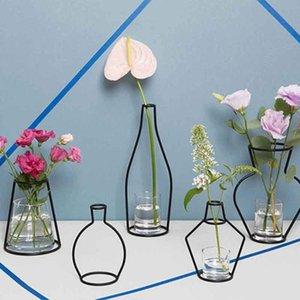Flower Bardian Vase Shelf Planter Rack Pots Iron Home Organizer Creative Accessories Soilless Decoration hotclipper vsaoN