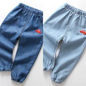 Anti Mosquito джинсы лето OzQd4 Тонкие детские и новый корейский джинсы стиль детей мультфильм джинсовой против комаров брюки брюки дышащий