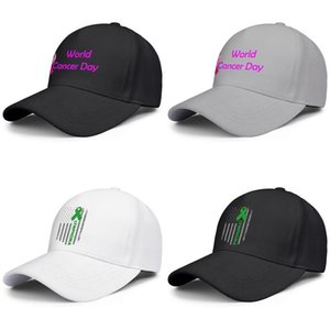 Мода Бейсболка Всемирный день борьбы против рака розовый логотип Регулируемая Бал Hat Прохладный персонализированный Trucker Cricket лимфома Американский флаг фиолетовый четвёртую