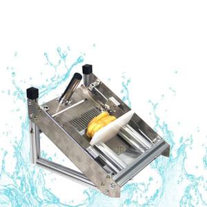 virutas de máquina de patatas fritas de corte de acero inoxidable de patata comercial Manual 2020 patata onda de la máquina máquina de cortar cortador cuchillo ondular