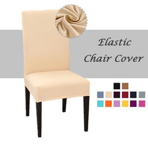 Sólido Desk Chair Assento Cor Cadeira Coberta Spandex Covers Slipcovers assento protetor para Hotel Banquete de Casamento Universal Tamanho
