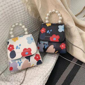 Chain Flower Stampa Spalla Donne Messenger Piccole borse da rossetto Borse perla calde PU Mojoyce Flap Crossbody 2020 Pelle RRBDA
