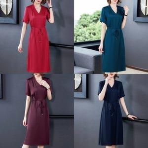 NEKcD Rock für Frauen 2020 langes Kleid Hangzhou Sommer neue Bauchdecke abnehmen Maulbeere zJGLE Seide große Mutter lange Seide Mediu Rock