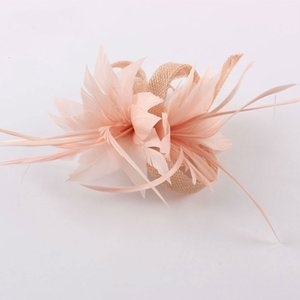 Capelli della piuma delle donne di Fascinator del cappello elegante cocktail Spilla copricapo da sposa Chiesa Copricapo Partito Accessori Sinamay Fascinators
