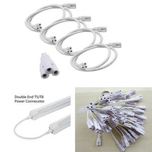 T5 / T8 LED Lamba Bağlama Teli Çift Bitiş 3pin Entegre Tüp Kabloları ile LED Tüp Lamba Tutucu Soket Parçaları için Kablo Linkable Kordonlar