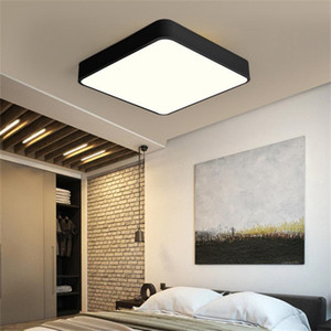 Nordic Square Led Ceiling Lights Macaroon Color Living Room Rectangle Led Ceiling Lamp Kids Bedroom Light Fixtures