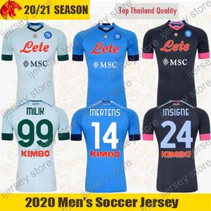 20 21 SSC Napoli Camiseta de fútbol MERTENS 2020 2021 INSIGNE LOZANO Camiseta Napoli niños y hombre Camisa de fútbol FABIAN LLORENTE Camisa MILIK