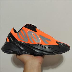 Kanye West 700 MNVN Running Shoes Laranja Triplo Preto Osso de fósforo 700 V2 corredor da onda Vanta Homens Mulheres Sneakers Com Box