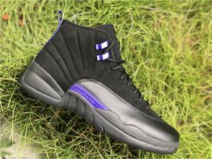 Top 12 scuro Concord Nero CT8013-005 2020 rilascio autentica NakeskinGiordaniaRetro 12s Mens dei pattini di pallacanestro di sport scarpe da tennis con la scatola