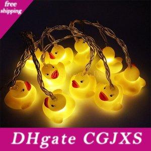 Brelong nuevo silicón de Animales Pequeños Pato amarillo llevó la fiesta de Navidad decoración de la secuencia de la linterna