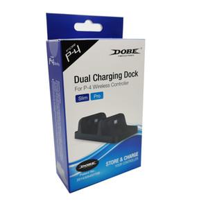 Heiße verkaufende drahtlose DOBE USB Dual Charger Dock-Station Game-Controller für PS4 Wireless Controller drahtloser Bluetooth Spiel-DHL-freies