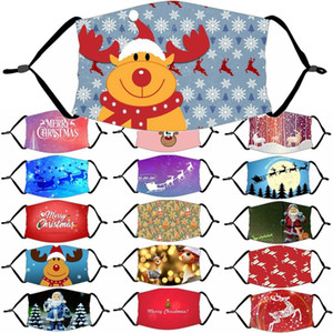 Noel 1pcs Maskeler Filtre Toptan HWB1188 ile Noel yüz maskesi kar tanesi Noel Ağız Kapak Yıkanabilir Yeniden kullanılabilir Yüz Maskesi 18 Stiller Maske