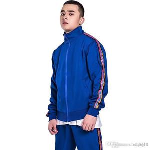 cloth 2018 Men's Sportwear Suit Sweatshirt Tracksuit Without Hoodie Men Casual Active Suit Zipper Outwear 2PC Jacket+Pants Sets