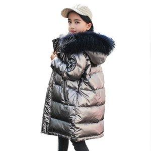 -30 Russian Boys winter jacket for girls Down Kid Teenager Outerwear waterproof coat parka children real fur clothing snowsui