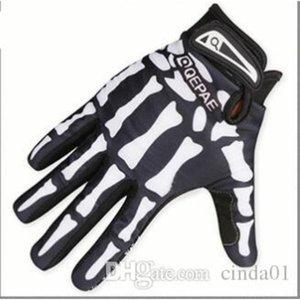 Mens Designer Biker Racing Handschuhe Sommer Winter Five Fingers Finger Protected Schädel druckte atmungsaktiv