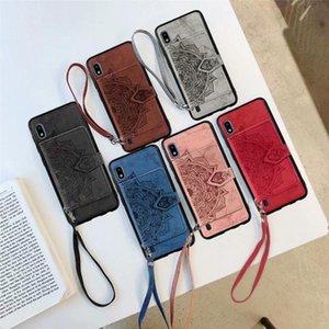 cgjxs Id-Taschen-Datura Blumen-Mandala-Spitze-Schlag-Fall für Samsung-Anmerkung 10 Plus-S7 S8 S9 Plus-Note8 Note9 A20 A30 A40 A50 A70