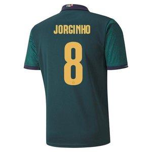 Player versão Itália de Futebol INSIGNE IMMOBILE 2020 EURO Third Kit Itália renascentista Jersey Mens uniforme Crianças BELOTTI TOTTI Futebol