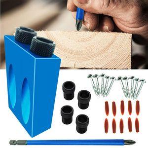 Herramienta para trabajar la madera Perforadora Posicionador Posicionador oblicua agujero perforadora de aleación de aluminio de la carpintería 15 grados de bisel Slotting