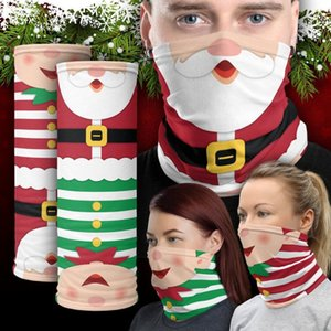 New arrival Chirstmas Face Mask Outdoor Sports Bandana Mask Magic Headbands Visor Neck Gaiter Christmas Decoration christmas ornaments 2020