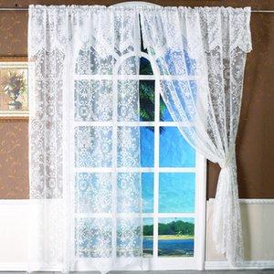 Transparent Jacquard Curtain Summer Romantic White Window Curtain Home Decor