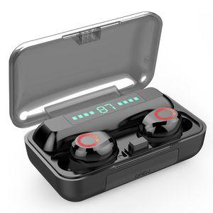 S12 TWS بلوتوث اللاسلكية سماعة 5.0 بطارية 2200mAh ماء سماعات HIFI الضوضاء ستيريو العرض الغاء سماعة الأذن التي تعمل باللمس الطاقة