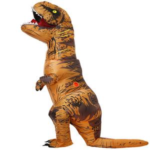 Взрослые Дети надувной динозавр костюм T REX Косплей костюмы партии Хеллоуин костюм для мужчин Женщины Аниме Fancy фрак C0927