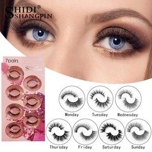 Imitated Mink eyelashes 7 styles 3D False Eyelashes Soft Natural Thick Fake Eyelash 3D Eye Lashes mink false eyelash natural