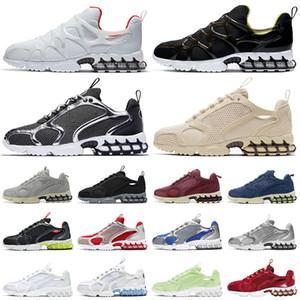 Stussy X Nike Hava Zoom Spiridon Kafes 2 Fosil Erkek Kadın Koşu Ayakkabıları Üçlü Beyaz Serin Gri Açık Erkek Eğitmenler Spor Sneakers Koşucular 36-45
