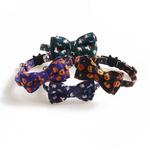 Halloween PET COLLAR PASEA GHOST Serie Gato Collar de gato Arco Collar de perro Suministros para perros Decoraciones de Halloween T2I51531