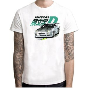 Initial Fc Night Out Anime japonês mangas curtas ulzzang Initial D Car Harajuku moda vintage camisetas Camisetas Hombre