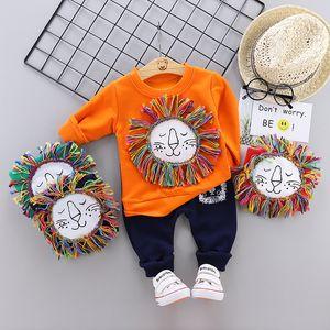 Newborn Kids Clothes Baby Boys Costume Cartoon lion infantil Tracksuit Tops Pants 2PCS Children Boy spring Outfits girls Set