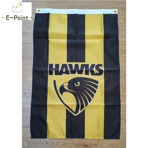 Bandera de Australia AFL Hawthorn Hawks club de fútbol FC * 3 pies 5 pies (150 cm * 90cm) decoración de la bandera de la bandera del vuelo gard casa