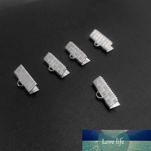 10/13/15/20 / 25mm dei monili del metallo Fare piegatura dell'estremità del cavo Fine Nastro fermagli d'argento tono di gioielli Accessori Componente