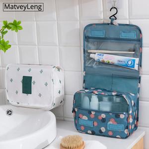 Maquiagem sacos de viagem Cosmetic Bag Artigos de higiene pessoal Organizador Waterproof armazenamento Neceser Hanging Banho Wash Bag Makeup Organizer