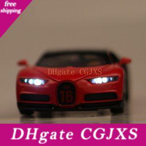 Дешевые 1: 32 Bugatti Chiron сплав автомобиль Die -Casting Модель автомобиль сплав Die -Casting Модель серия Оттяни ребенок '; S Toys Gift Show