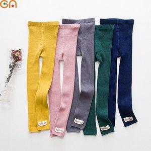 Outono, Inverno Novos garotos de algodão leggings menino, menina, bebê, moda cor sólida selvagens calças esportivas para crianças de alta qualidade presentes CN MX200811