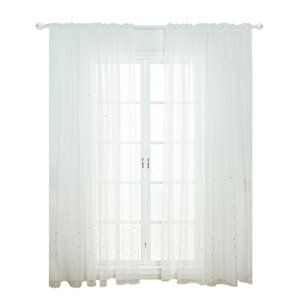 Curtain Star Tulle Curtains Modern Window Curtains for Living Room Transparent Tulle Window Curtains Window Drapes Sheer for theroom