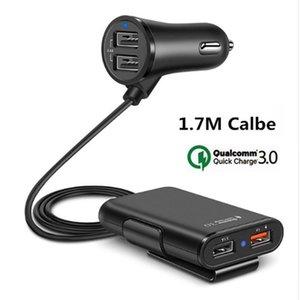 4 USB порта Fast Charger Быстрая зарядка Qc 3 +0,0 Автомобильное зарядное устройство Универсальный USB-адаптер Fast С Удлинитель для Iphone Samsung Smartphone